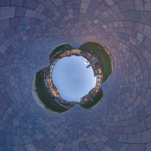 360 Architechture Madison Panorama Sphere Spherical Stereographic Projection Tiny Planet Wisconsin