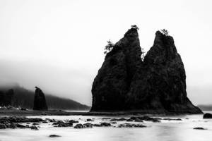 Beach Clouds Coast Hiking La Push Olympic National Park Pacific Ocean Sea Stacks Silhouette Washington Waves