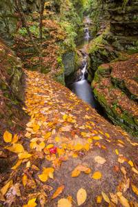 Autumn Leaves Skillet Falls Waterfall Wisconsin